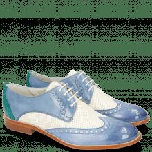 Derby schoenen Amelie 3 Vegas Neptune Blue Perfo White Wind Onda