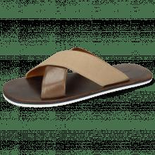 Muiltjes Sam 5 Imola Chestnut Textile Indonesia Camel