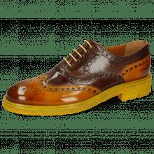 Oxford schoenen Trevor 1 Yellow Dark Finishing Mink Chestnut