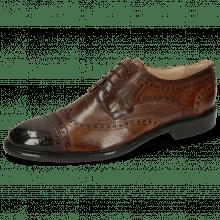 Derby schoenen Henry 7  Pisa Mid Brown Wood Tortora Ash
