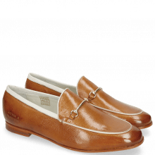 Loafers Scarlett 47 Pisa Tan Binding Nappa White Trim Gold