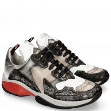 Sneakers Flo 1 Hairon Silver Stone Milled White Black Cherso