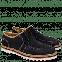 Derby schoenen Jack 12 Suede Pattini Navy Binding