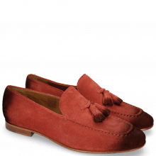 Loafers Clive 20 Suede Pattini Pompei Shade Burgundy