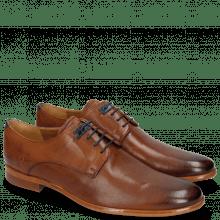 Derby schoenen Clint 1 Pavia Tan Deco Pieces Electric Blue