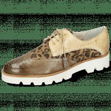 Derby schoenen Selina 41 Vegas Light Grey Beige Suede Leo Beige