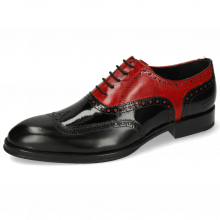 Oxford schoenen Kane 36 Rubber Patent Black Ruby