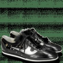 Sneakers Pearl 1 Suede Pattini Black Cromia Gunmetal