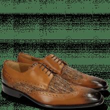 Derby schoenen Albert 2 Tan Tex Pixel Orange