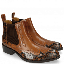 Enkellaarzen Hugo 2 Python Brown Crock Wood Tan