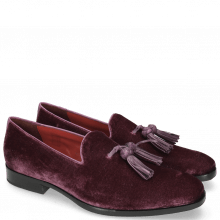 Loafers Prince 8 Velluto Dark Purple Tassel