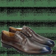 Derby schoenen Martin 1 Venice Dice Stone Toe Electric Blue