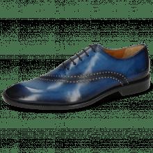 Oxford schoenen Gaston 2  Mid Blue Shade Navy Rivets