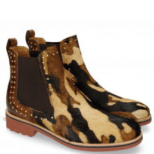 Enkellaarzen Amelie 12 Hairon Camo Wood Back Rivets