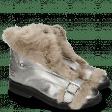Enkellaarzen Greta 4 Talca Steel Fur Taupe