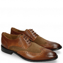 Derby schoenen Victor 2 Rio Mid Brown Suede Pattini Roccia
