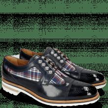 Derby schoenen Tom 22 Navy Textile Check Multi