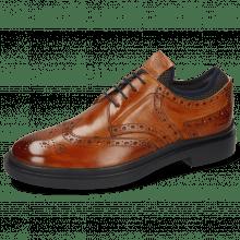 Derby schoenen Ron 2  Tan Net Lycra