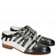 Oxford schoenen Sally 105 Black Nappa Perfo White