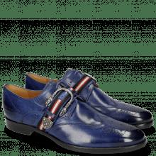 Derby schoenen Clint 2 Midnight Blue Buckle
