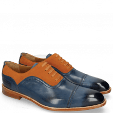 Oxford schoenen Jacob 2 Navy Suede Pattini Orange
