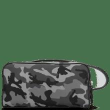 Toilettassen Palermo Textile Camo Grey Milled Black