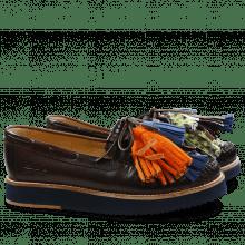 Loafers Bea 4 Crust Dark Brown Tassel Multi Z Navy