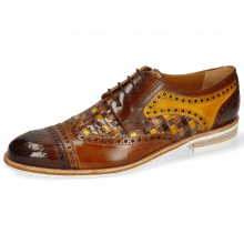 Derby schoenen Henry 7 Wood Sabbia Tan Woven
