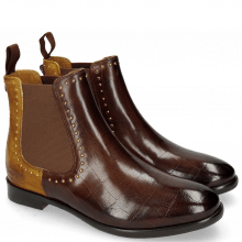 Enkellaarzen Daisy 6 Turtle Mid Brown Sun Rivets