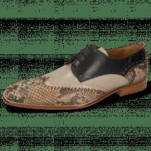 Derby schoenen Clark 1 Snake Digital Black