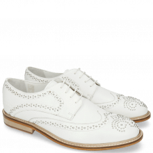 Derby schoenen Matthew 4 Milled White Rivets