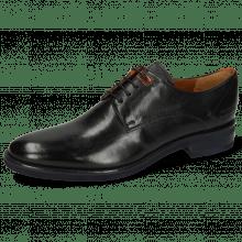 Derby schoenen Clint 1 Imola Black Deco Pieces Orange