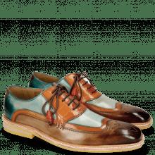 Oxford schoenen Marvin 12 Brown Orange Blue