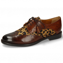 Derby schoenen Selina 41 Mid Brown Hairon Tanzania Wood