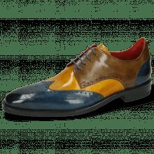 Derby schoenen Dave 2 Ice Indy Yellow Khaki Electric Blue