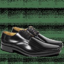 Derby schoenen Frank 9 Brush Black LS