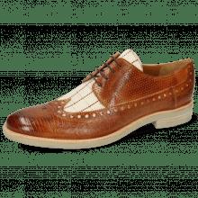 Derby schoenen Clint 34 Guanna Tan Line Jute Mesh