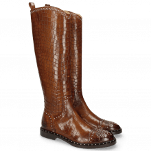 Laarzen Sally 116 Crock Mid Brown Rivets