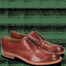 Derby schoenen Amelie 14 Perfo Ruby