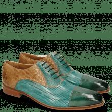 Oxford schoenen Lance 55 Perfo Guana Mermaid Woven Sand