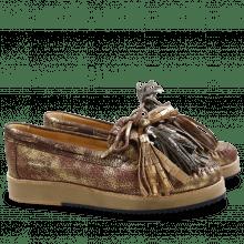 Loafers Bea 4 Afix Gold Wine Tassel Multi Z Navy Camel