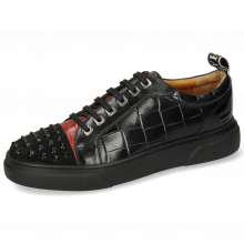 Sneakers Harvey 12 Oily Suede Black Crock Ruby Monza