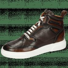 Sneakers Harvey 51 Monza Mid Brown Wood Nappa Mogano