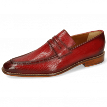 Loafers Leonardo 4 Skink Washed Rich Red Shade Wine