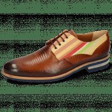 Derby schoenen Henry 34 Guana Tan Shade Dark Brown