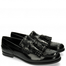 Loafers Pit 2 Brush Black Rivets