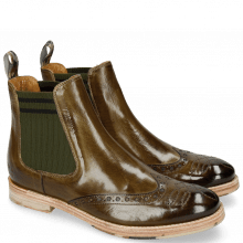 Enkellaarzen Amelie 77 Olive Dark Finishing