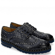 Derby schoenen Matthew 14 Crock Navy Rivets