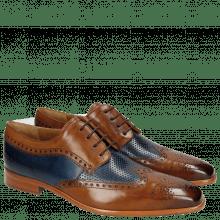 Derby schoenen Ethan 10 Wood Perfo Navy