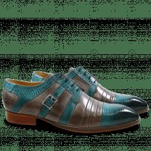 Derby schoenen Ricky 2 Guana Turquoise Crust Morning Grey LS